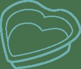 Heart-shaped baking tray